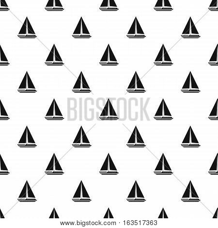 Sea yacht pattern. Simple illustration of sea yacht vector pattern for web