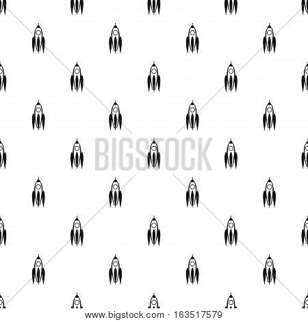 Aircraft rocket pattern. Simple illustration of aircraft rocket vector pattern for web
