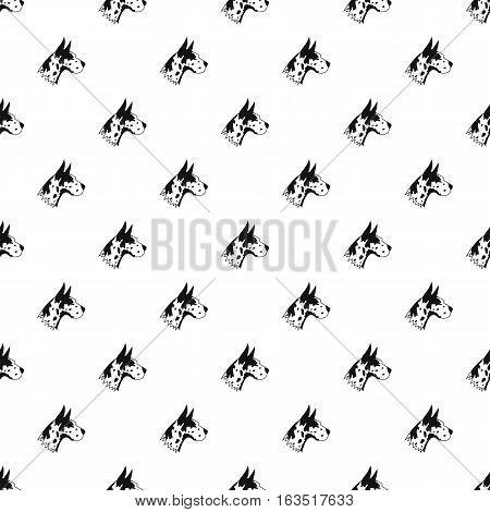 Doberman dog pattern. Simple illustration of doberman dog vector pattern for web
