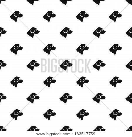 Beagle dog pattern. Simple illustration of beagle dog vector pattern for web