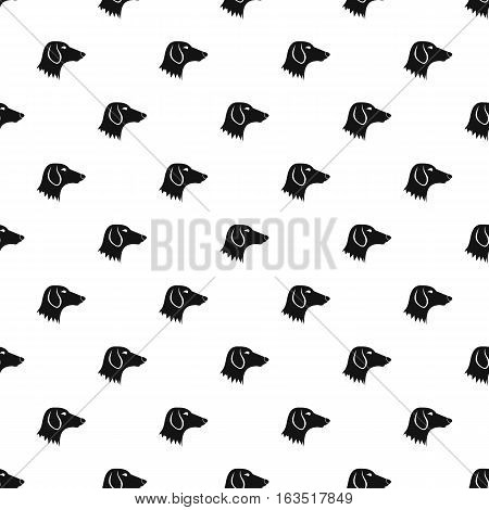 Dachshund dog pattern. Simple illustration of dachshund dog vector pattern for web