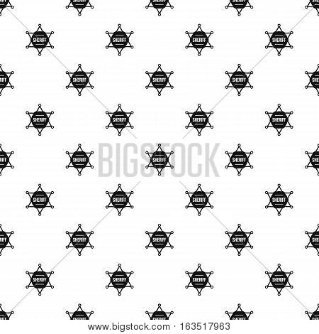 Sheriff badge pattern. Simple illustration of sheriff badge vector pattern for web