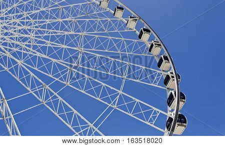 The Wheel of Brisbane is an almost 60 metres tall ferris wheel installed in Brisbane Australia.