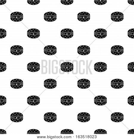 Cheeseburger pattern. Simple illustration of cheeseburger vector pattern for web