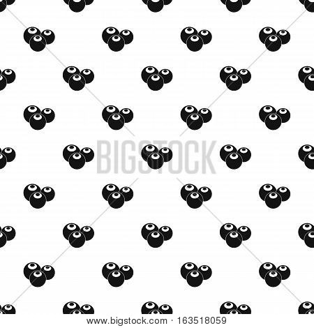 Blueberries pattern. Simple illustration of blueberries vector pattern for web