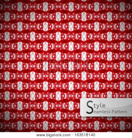 red serrated mesh geometric seamless pattern vector illustration
