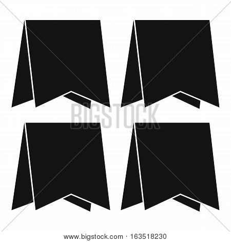 Pennants icon. Simple illustration of pennants vector icon for web