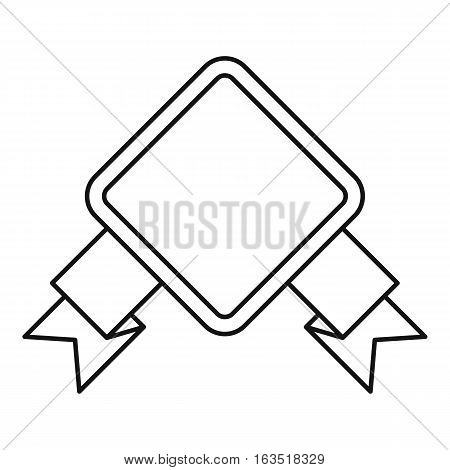 Rhombic banner icon. Outline illustration of rhombic banner vector icon for web