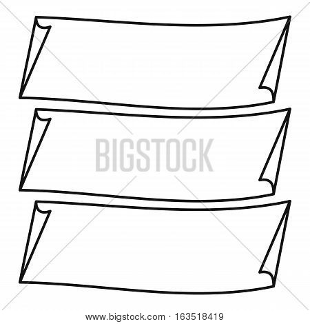 Long banners icon. Outline illustration of long banners vector icon for web