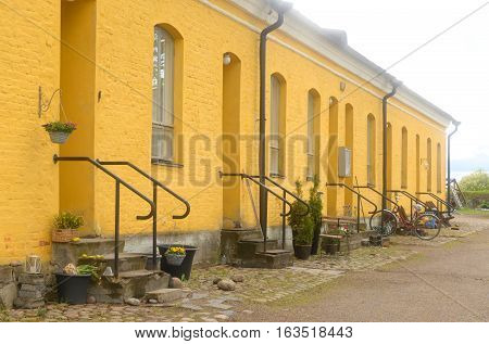 Old building in the fortress of Lappeenranta. Lappeenranta - city and municipality in Finland in the province of Eastern Finland.