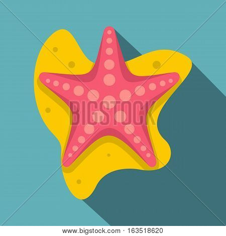 Sea star icon. Flat illustration of sea star vector icon for web