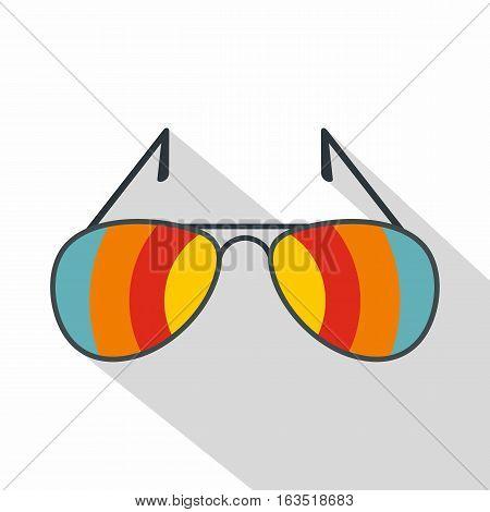 Sunglasses icon. Flat illustration of sunglasses vector icon for web