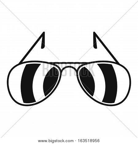 Sunglasses icon. Simple illustration of sunglasses vector icon for web