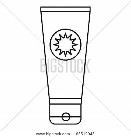 Sunscreen icon. Outline illustration of sunscreen vector icon for web