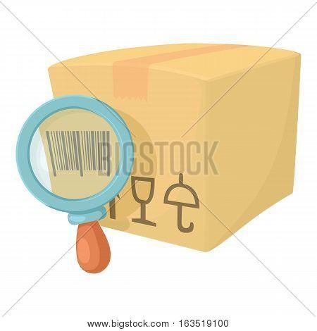 Barcode box icon. Cartoon illustration of barcode box vector icon for web