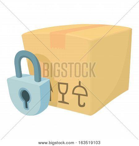 Closed box icon. Cartoon illustration of closed box vector icon for web
