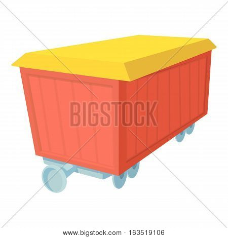Boxcar icon. Cartoon illustration of boxcar vector icon for web
