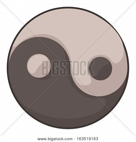 Ying yang icon. Cartoon illustration of ying yang vector icon for web