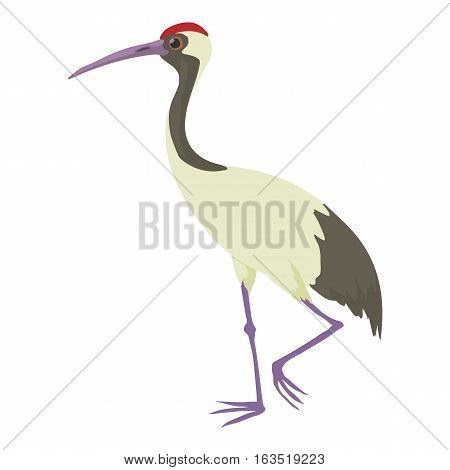 Chinese crane icon. Cartoon illustration of chinese crane vector icon for web