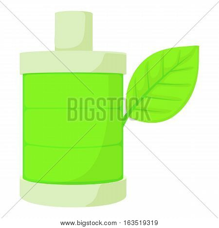 Eco bottle icon. Cartoon illustration of eco bottle vector icon for web