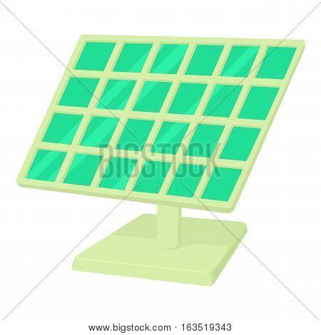 Solar panel icon. Cartoon illustration of solar panel vector icon for web