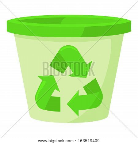 Plastic jar icon. Cartoon illustration of plastic jar vector icon for web