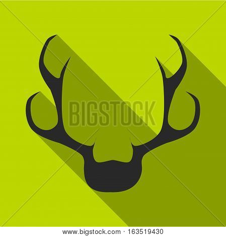 Deer horns icon. Flat illustration of deer horns vector icon for web