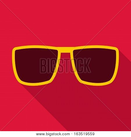 Sunglasses icon. Flat illustration of sunglasses vector icon for web