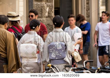 Japanese Tourists Florence