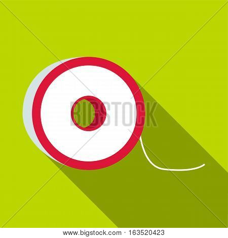 Fishing lines icon. Flat illustration of fishing lines vector icon for web