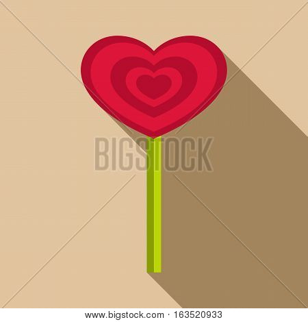 Heart candy icon. Flat illustration of heart candy vector icon for web