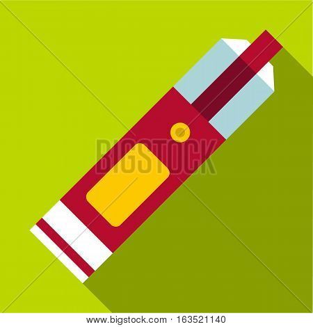 Big flashlight icon. Flat illustration of big flashlight vector icon for web