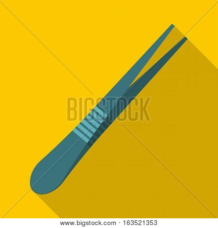 Eyebrow tweezers icon. Flat illustration of eyebrow tweezers vector icon for web