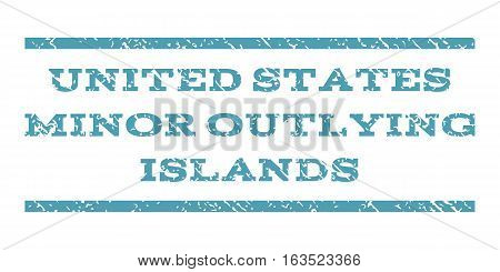 United States Minor Outlying Islands watermark stamp. Text tag between horizontal parallel lines with grunge design style. Rubber seal stamp with scratched texture.