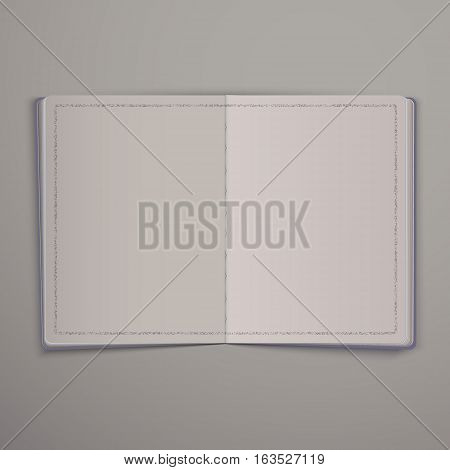 Blank open magazine or Book. Mock Up Template Ready For Your Design vector EPS 10