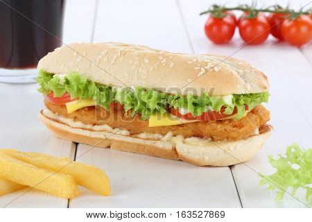 Chickenburger Chicken Burger Hamburger Menu Meal Combo Drink