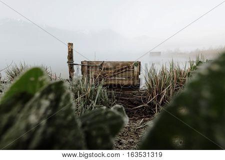 lake cabin boathouse fishing kochelsee bavaria mountains