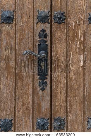 Decorative antique wooden door handle, Antique door handle