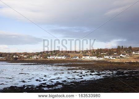 Beach and golf course in Arisaig Scotland