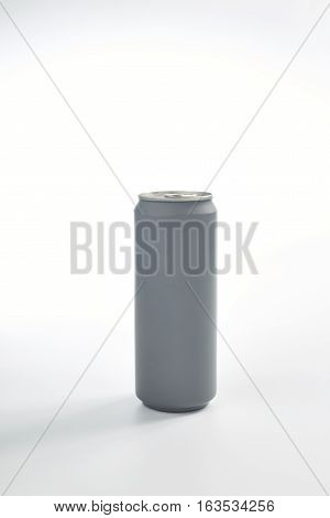Aluminum beverage can isolated on a white background