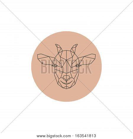 Goatling abstract geometric portrait. Design Vector illustration.