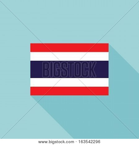 Thailand flag , flat design vector with official proportion