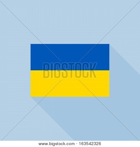 Ukraine flag , flat design vector with official proportion