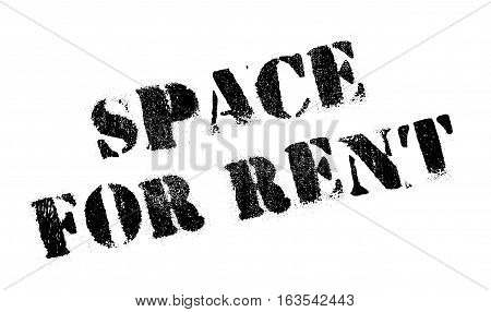 Space For Rent stamp. Grunge design with dust scratches. Effects can be easily removed for a clean, crisp look. Color is easily changed.