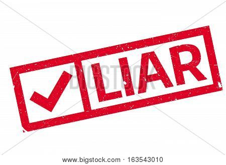 Liar rubber stamp. Grunge design with dust scratches. Effects can be easily removed for a clean, crisp look. Color is easily changed.