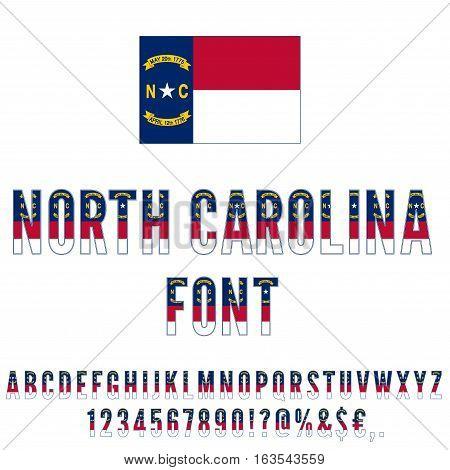 North Carolina Usa State Flag Font Vector Photo Bigstock