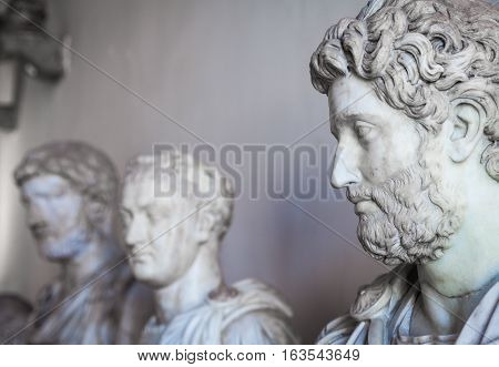 Venice, Italy - June 27, 2016: Statues Detail In Palazzo Ducale Museum