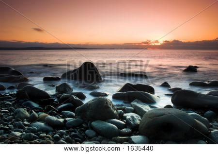 Druidstone Beach Sunset Pembrokeshire November 2006