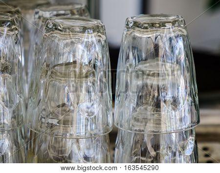 Glass Cups Upside Down