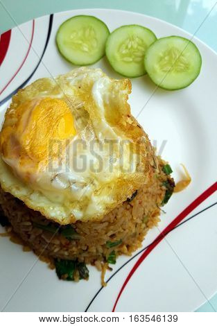 Fried rice with Lemongrass and a Fried egg
